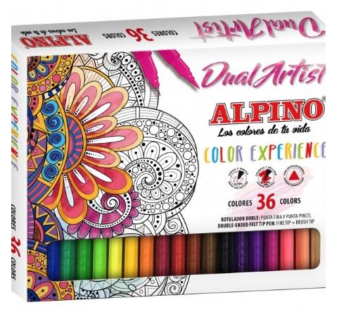 Zestaw pisaków z dwiema końcówkami Alpino Color Experience 36 kol.